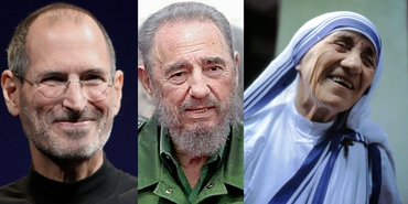 What did Mother Teresa, Fidel Castro and Steve Jobs have in common?