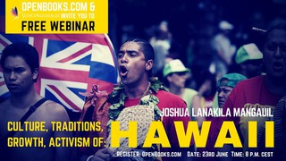 FREE WEBINAR - Hawaiian Traditions & Activism with Joshua Lanakila Mangauil