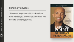 """""""Turning Point:  A 6 Step Process for Transforming Your Life"""" by Dr. Rohan Weerasinghe"""