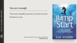 """Jump Start: The Start Up Book For Your Dream Business"", by Sue Vizard"