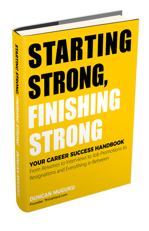 Starting Strong, Finishing Strong-Duncan Muguku-Founder-ThriveYard